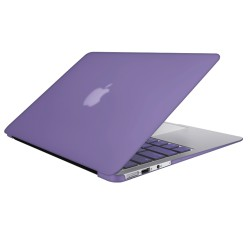 "Rubberized Hard Shell Case With Keyboard Cover for Macbook Air 11"" A1370/A1465 - Purple"
