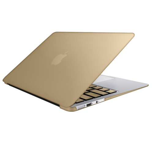 "Metallic Hard Shell Case With Keyboard Cover for Macbook Air 13"" A1466/A1369 - Metallic Gold"