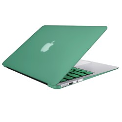 "Rubberized Hard Shell Case With Keyboard Cover for Macbook Air 13"" A1466/A1369 - Ocean Green"