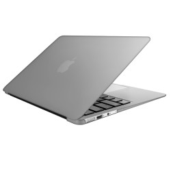 "Metallic Hard Shell Case With Keyboard Cover for Macbook Air 13"" A1466/A1369 - Silver"