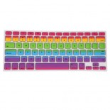 for macbook pro® 13 / 15 / 17 retina® imac air 13 silicone skin keyboard cover - rainbow