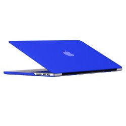 "Rubberized Hard Shell Case With Keyboard Cover for Macbook Pro 13"" Retina A1502/A1425 - Royal Blue"
