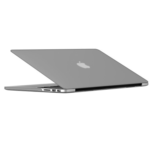 "Rubberized Hard Shell Case With Keyboard Cover for Macbook Pro 13"" Retina A1502/A1425 - Grey"