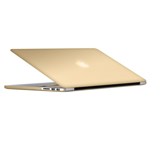 "Metallic Hard Shell Case With Keyboard Cover for Macbook Pro 13"" Retina A1502/A1425 - Metallic Gold"
