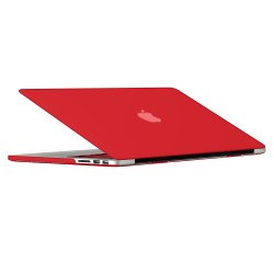 "Rubberized Hard Shell Case With Keyboard Cover for Macbook Pro 13"" Retina A1502/A1425 - Red"