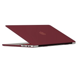 "Rubberized Hard Shell Case With Keyboard Cover for Macbook Pro 13"" Retina A1502/A1425 - Wine Red"