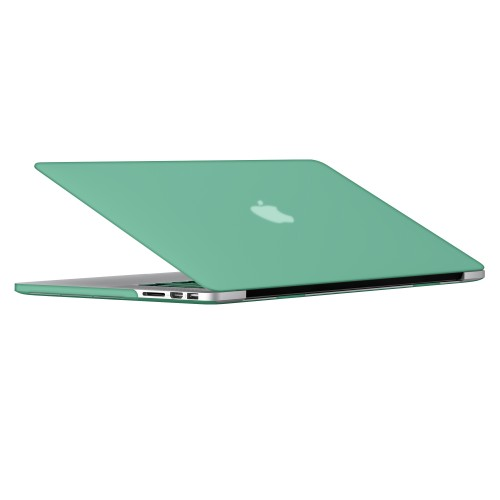 "Rubberized Hard Shell Case With Keyboard Cover for Macbook Pro 15"" Retina A1398 - Ocean Green"