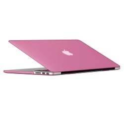 "Rubberized Hard Shell Case With Keyboard Cover for Macbook Pro 15"" Retina A1398 - Baby Pink"