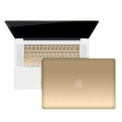 """Metallic Hard Shell Case With Keyboard Cover for Macbook Pro 15"""" A1286 - Metallic Gold"""