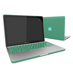 Rubberized Hard Case for Macbook Pro® 13 with Screen Protector Ocean Green