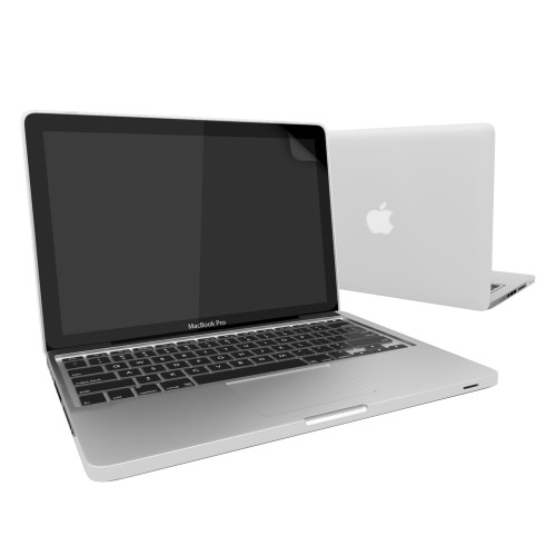 Rubberized Hard Case for Macbook Pro® 13 with Screen Protector Clear