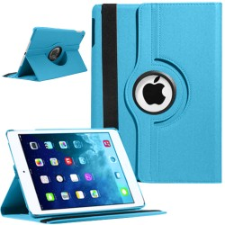 Rotating Magnetic Leather Smart case for iPad® Air Sky Blue