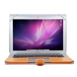 "Premium PU Leather Clip On Folio Case for MacBook Air 13"" (A1369/A1466) - Champagne Gold"