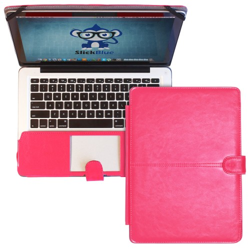 "Premium PU Leather Clip On Folio Case for MacBook Pro 13"" (A1278) - Black"