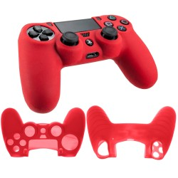 Soft silicone gel case for Sony® PS4™ Playstation Gaming controller red