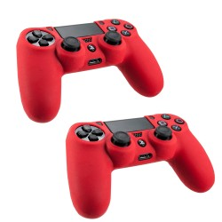 Pack Of 2 Soft Skin Case for Sony® Plastation® 4 Game Controller Red