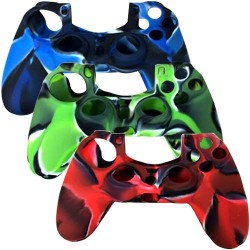 3 In 1 Pack Silicone Controller Case for Sony PS® 4 Red Blue Green