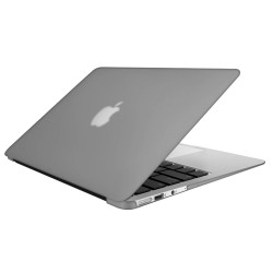 """Rubberized Hard Shell Case With Keyboard Cover for Macbook Air 13"""" A1466/A1369 - Grey"""
